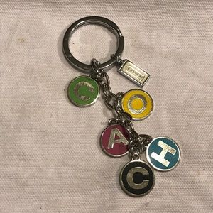 Coach Letter Name Keychain